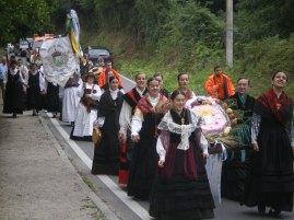 O grupo Santaia levando o Ramo (ano 2008)
